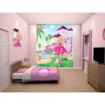 Walltastic Barbie Pink Palace Wallpaper Mural