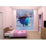 "Walltastic Disney Frozen Skating Wallpaper 8ft x 6ft 6"" Mural"
