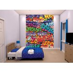 "Walltastic Brick Wall Graffiti 8ft x 6ft 6"" Mural"