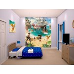"Walltastic Pirate and Treasure Adventure 8ft x 6ft 6"" Mural"