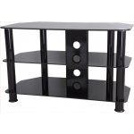 """AVF Universal Black Glass and Black Legs TV Stand For up to 40"""" TVs"""