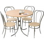 DSK Bistro Deluxe Table and Chair Set - Light Wood