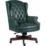 DSK Chairman Large Leather Executive Chair - Green