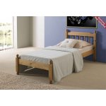 Amani Colonial Spindle Waxed Pine Bed Frame Single - No Drawers