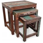Shankar New England Reclaimed Timber Nest of Tables