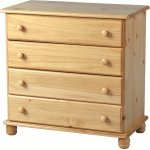 ValuFurniture Sol 4 Chest of Drawers - Antique Pine