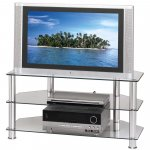 """Hama Universal Clear Glass TV Stand for up to 32"""""""
