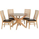 ValuFurniture Boston Dining Set in Natural Oak