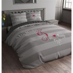 Sleep Time Who is Right Duvet Cover Set - Grey - Double 4ft