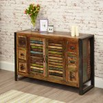 Baumhaus IRF02B Urban Chic 6 Drawer Sideboard
