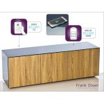 "Frank Olsen INTEL1500GRY-OAK Grey and Oak TV Cabinet For TVs Up To 70"" Assembled"