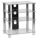 MMT 4 Shelf Clear Glass HiFi Stand