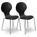 Julian Bowen Set of 4 Keeler Chairs Black