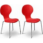 Julian Bowen Set of 4 Keeler Chairs Tomato