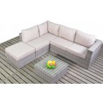 Luxan Rustic Grey Rattan Small Left Hand Corner Set