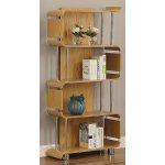 Jual BS201 Ash Bookshelf with Chrome Supports