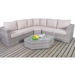 Luxan Rustic Angler Corner Sofa Set with Coffee Table