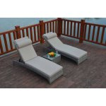 Luxan Rustic Pair Of Loungers