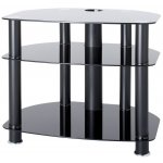 "B GRADE Alphason Black Glass TV Stand for up to 26"" TVs"