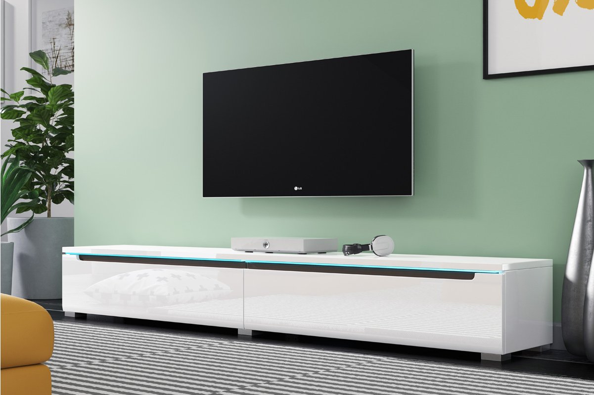 Sel Swift 1800 Wht Tv Stand