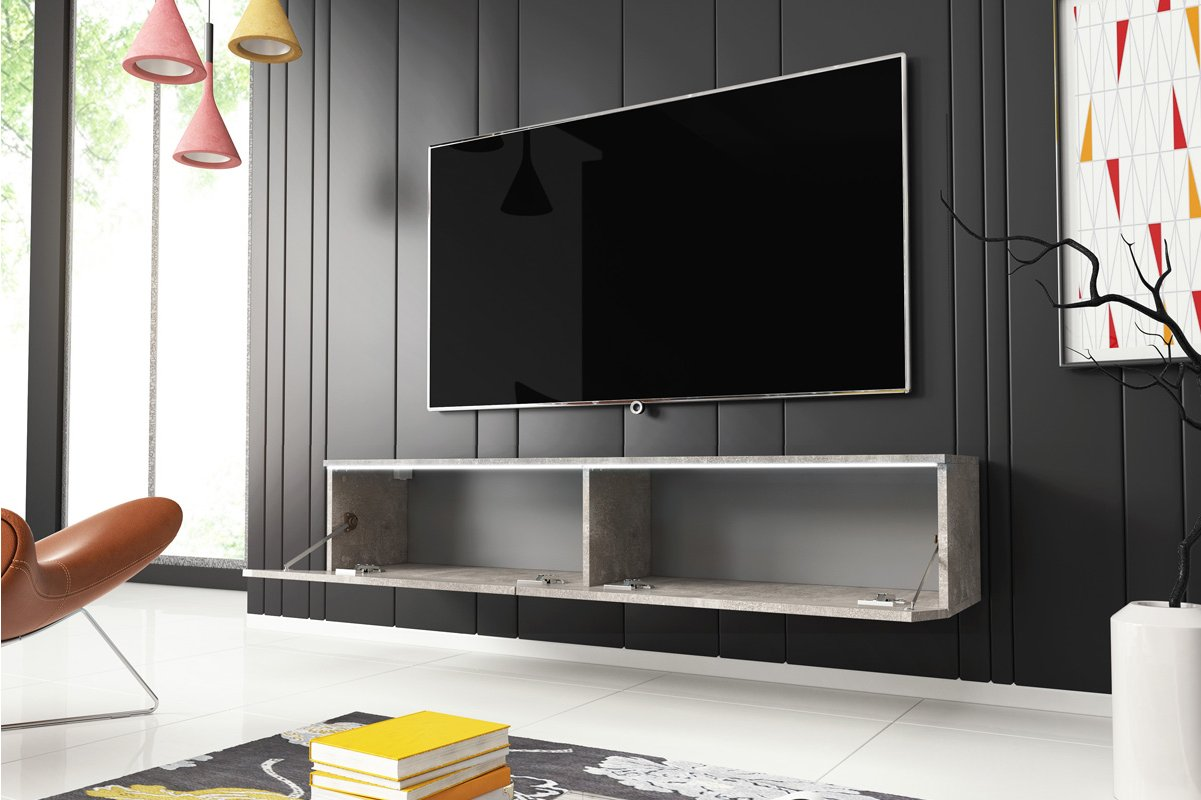 wholesale dealer 4f441 0ae42 Selsey Kane 1400 TV Stand for TVs up to 64 inch - Concrete