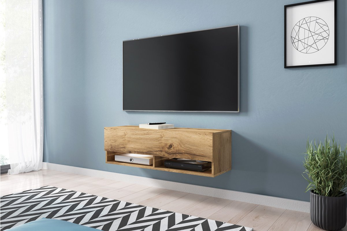 separation shoes 43d60 ccce7 Selsey Wander 1000 TV Stand for TVs up to 49 with LED Lighting Kit - Oak