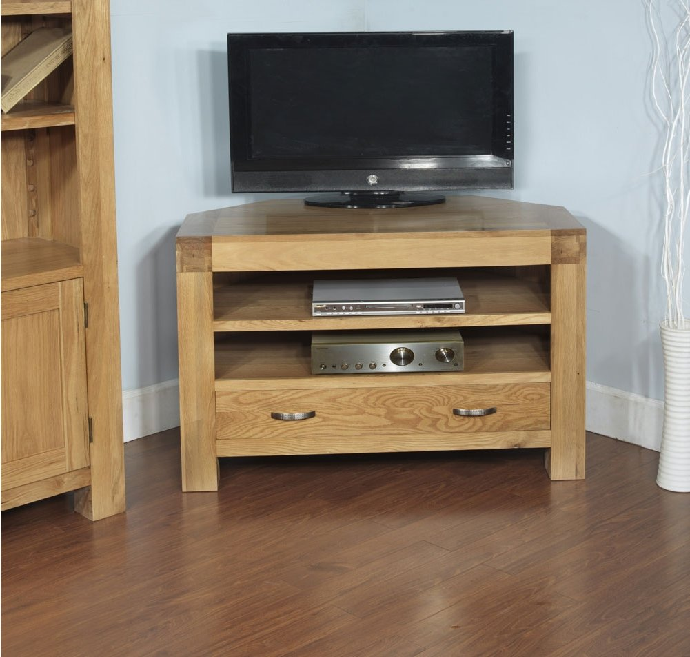 rustic grange santana blonde oak corner tv unit. Black Bedroom Furniture Sets. Home Design Ideas