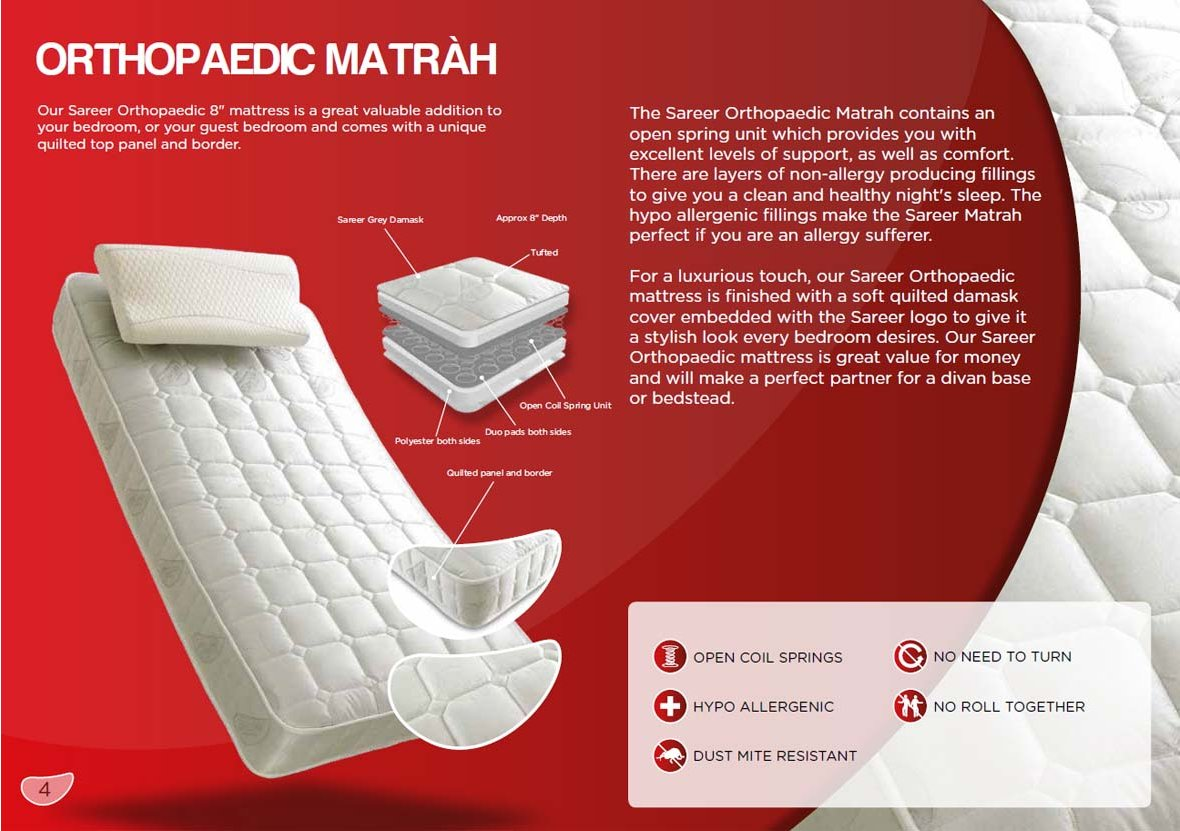 Sareer Furniture Sare Ortm 46 Orthopaedic Mattress