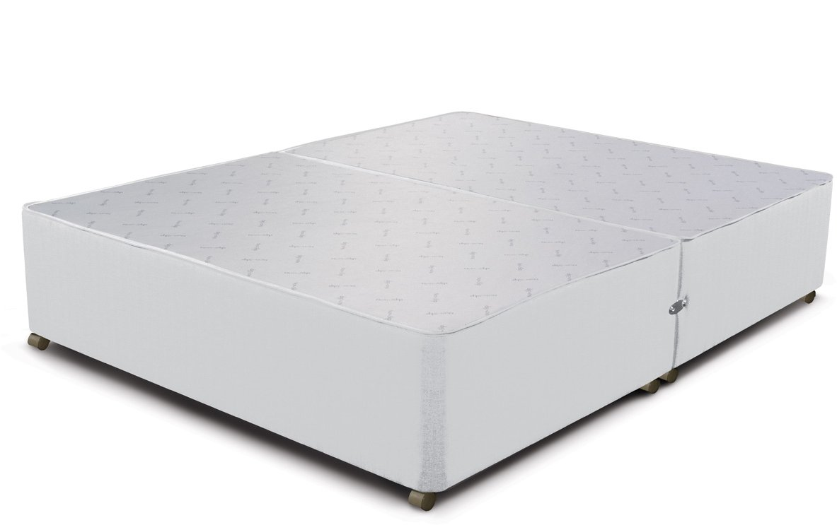 Sleepeezee sleepeezee div ndr white 46 bed sets for Cheap double divan bed base with drawers