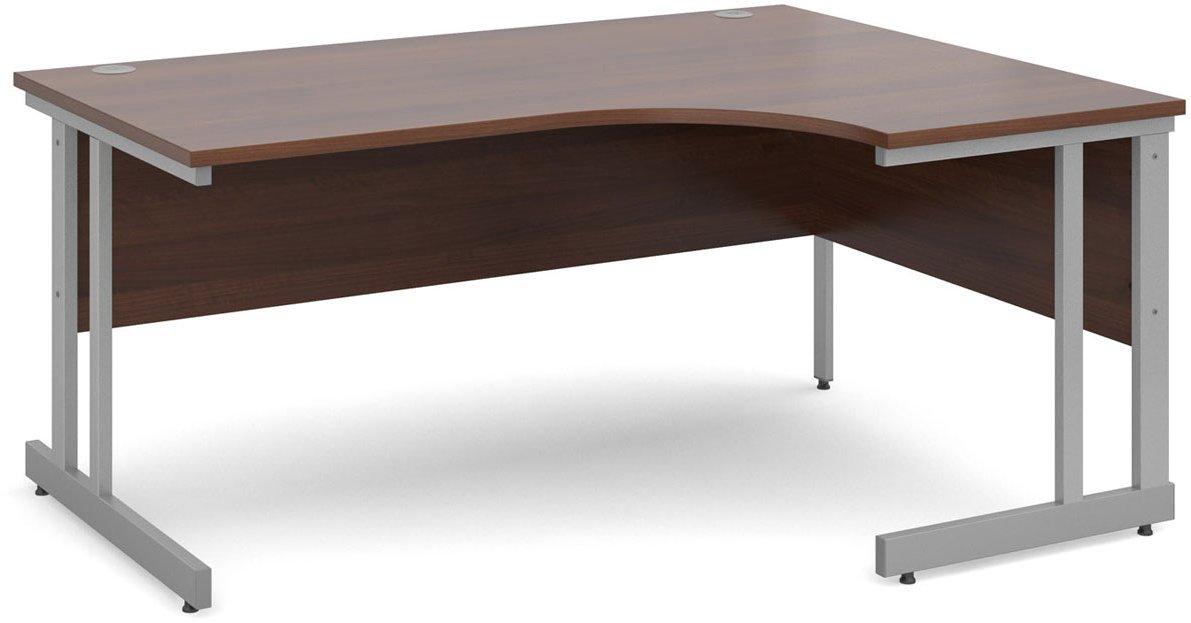 Dsk Momento 1600mm Right Hand Ergonomic Desk Walnut Main Image