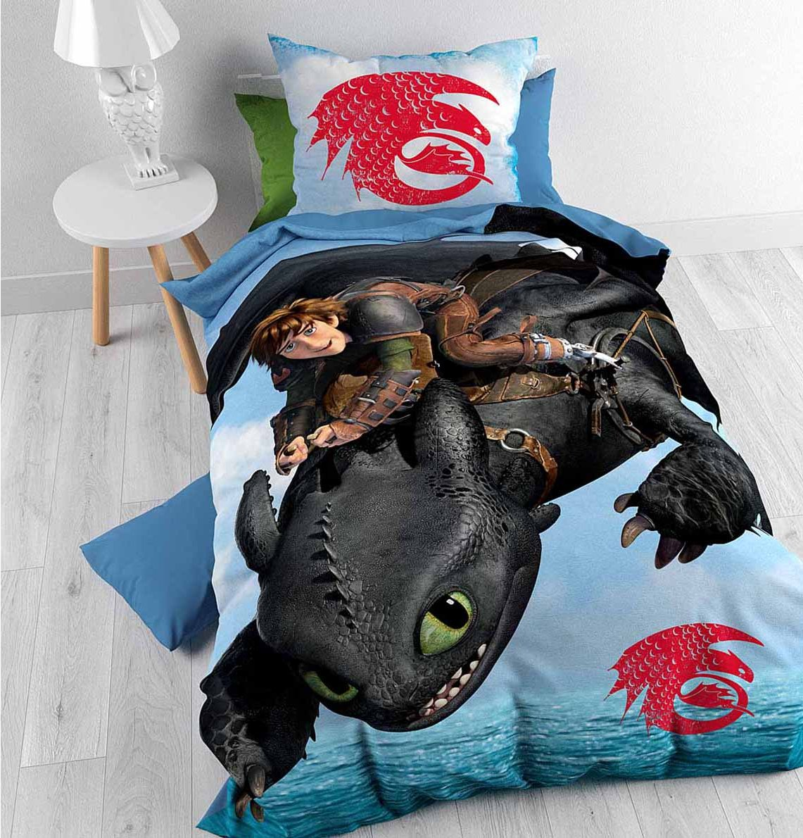 Disney 5055285388898 bedding disney how to train your dragon duvet cover set for kids multicoloured single 3ft ccuart Gallery