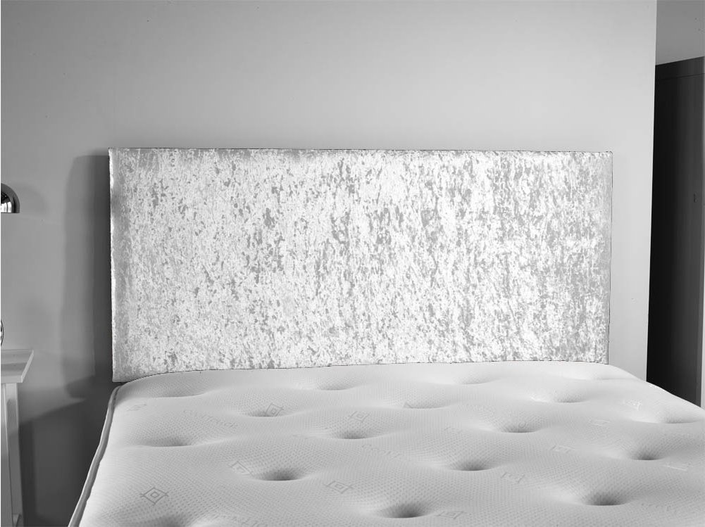 ValuFurniture Doll Velvet Fabric Headboard - Silver - Small Double 4ft Main  Image