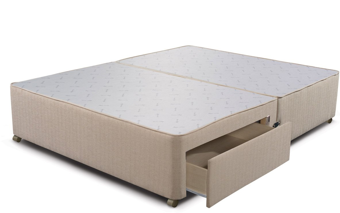 Sleepeezee sleepeezee div 2dr marb 46 bed sets for Double divan base with drawers