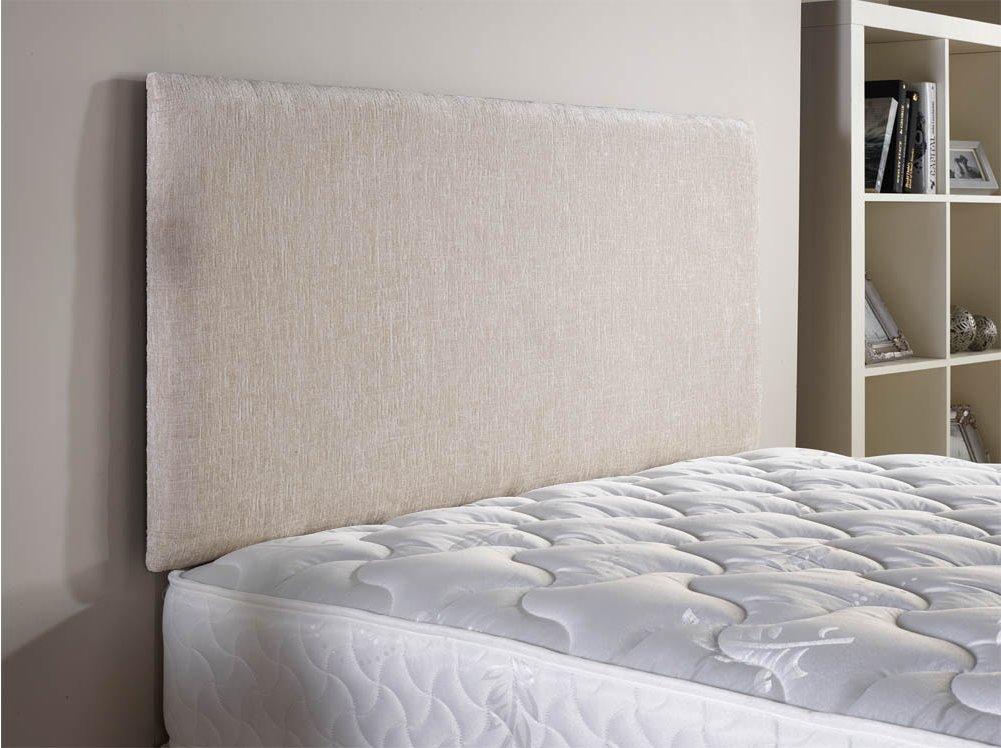 doll chenille fabric headboard cream small double 4ft alternative image