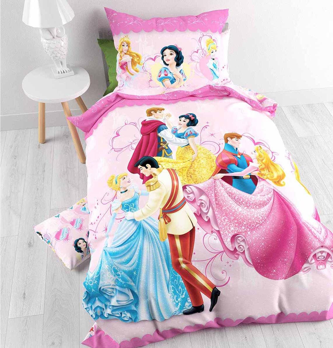 Disney Princess Dancing Duvet Cover Set For Kids Multicoloured Single 3ft Main Image