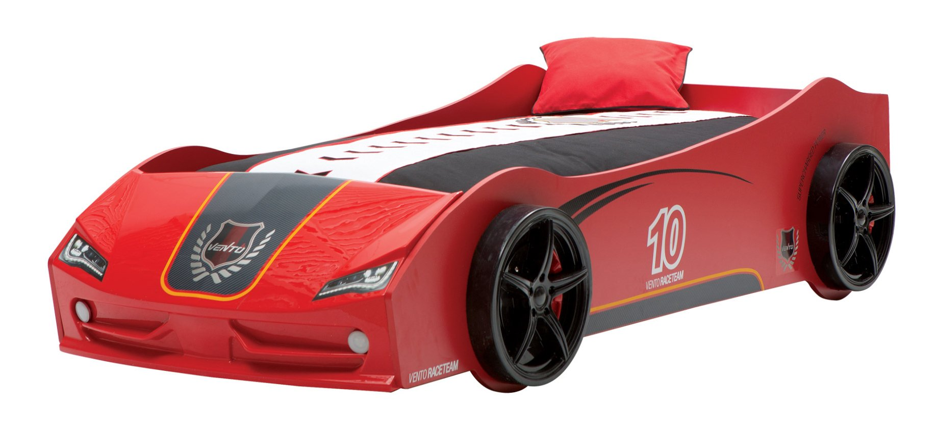 newjoy v6 vento red children s race car bed