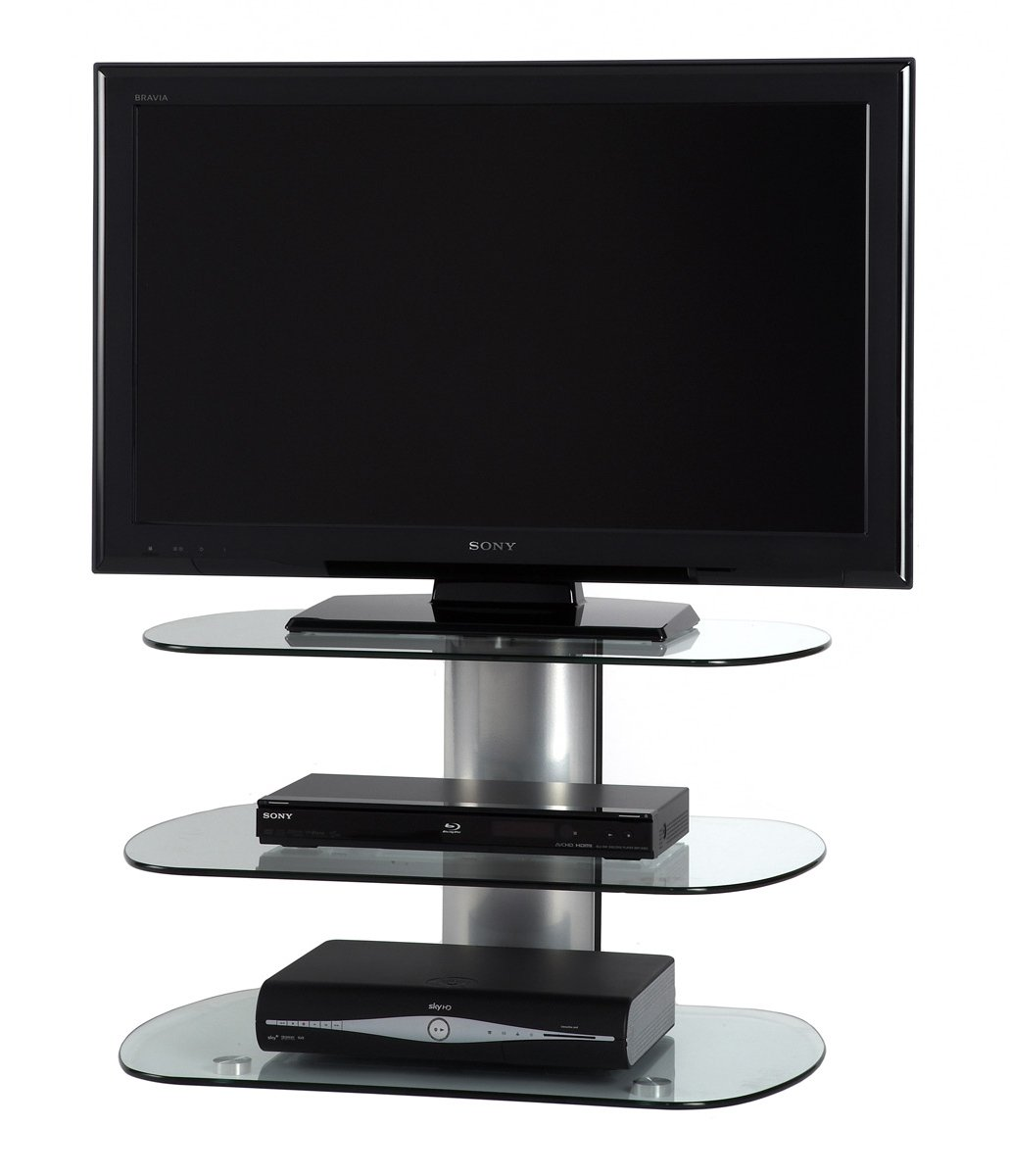 Off-The-Wall Skyline 750 Silver Plasma TV Stands