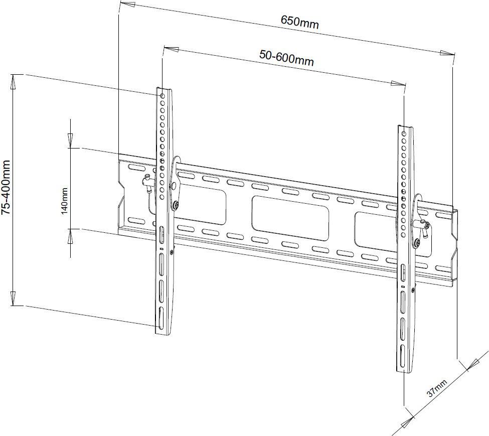 Ultimate Mounts Um118m Super Slim Tilt Tv Wall Brackets