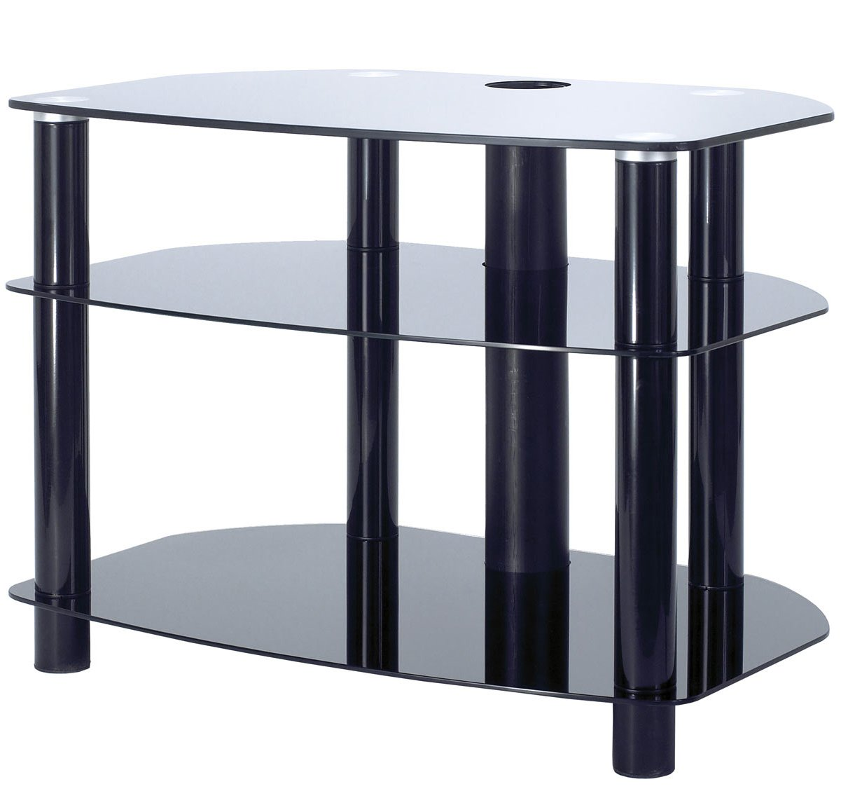 alphason black glass tv stand for up to 32 tvs. Black Bedroom Furniture Sets. Home Design Ideas