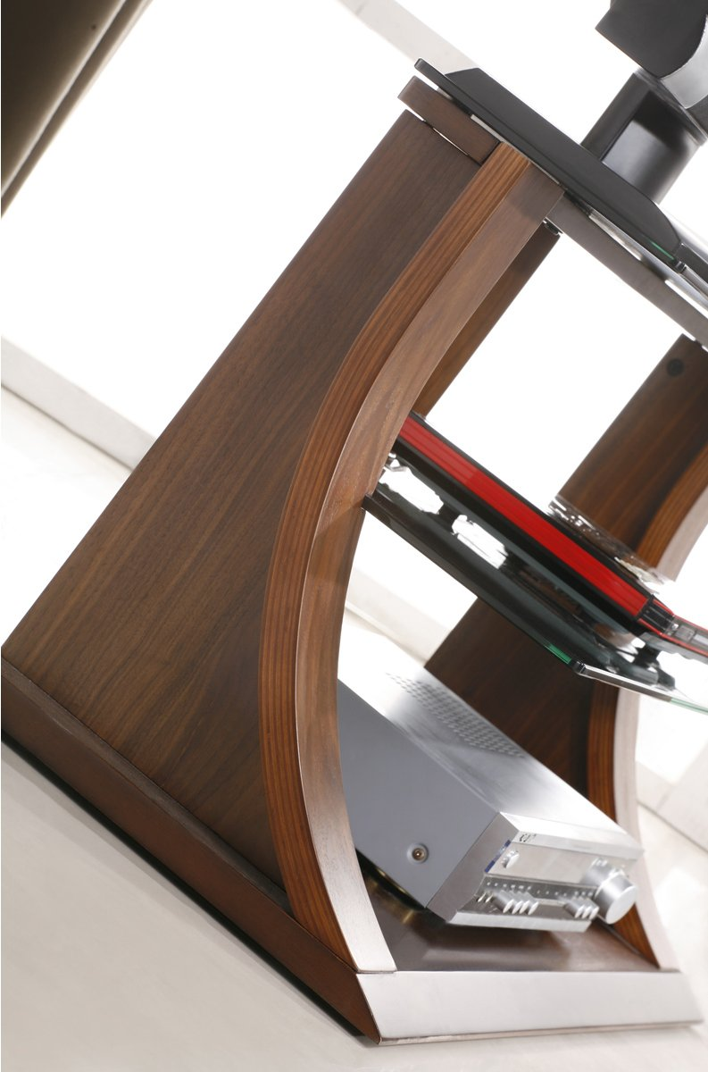 Jual Florence Curved Walnut And Black TV Stand For Up To 37\