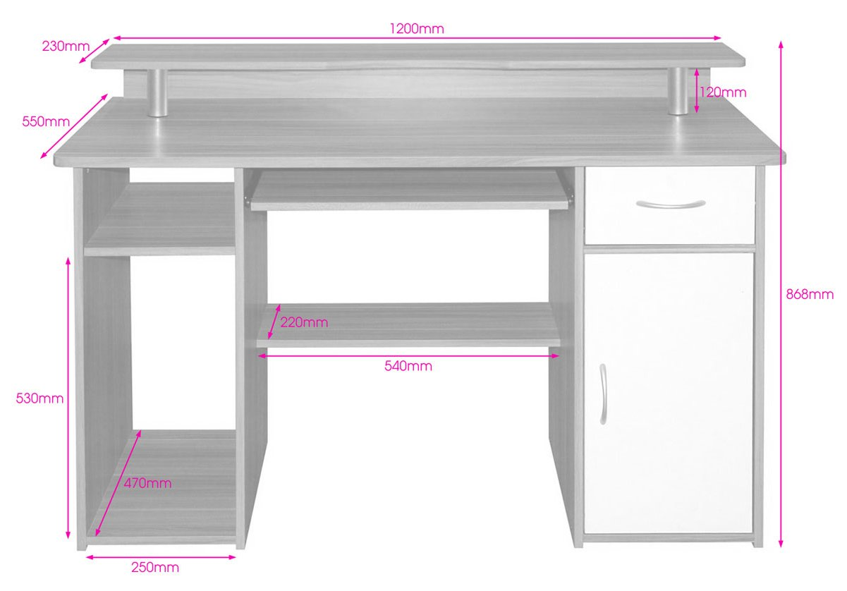 Alphason Albany Aw12362 Desks