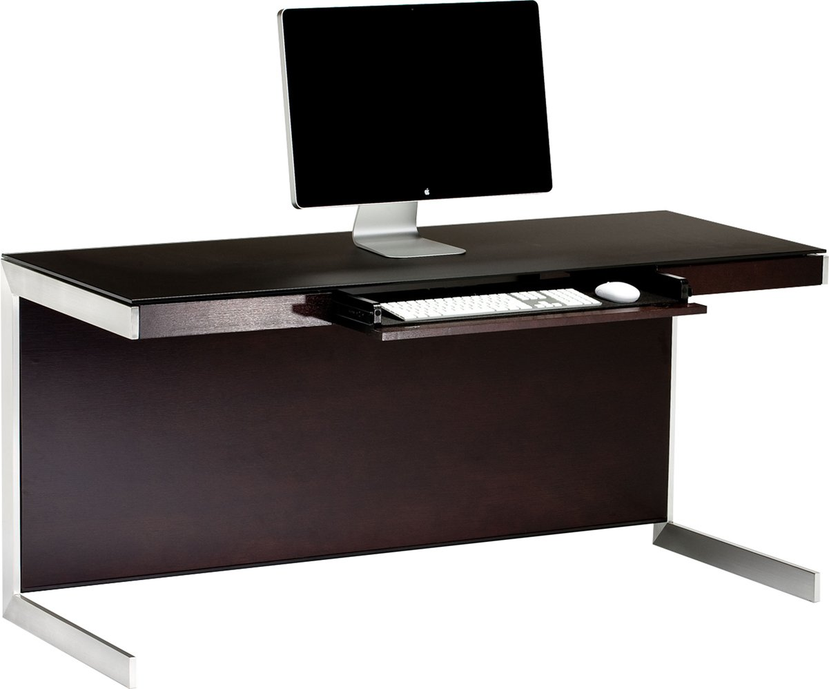 Bdi sequel 6001 espresso computer desk for Computer desk design