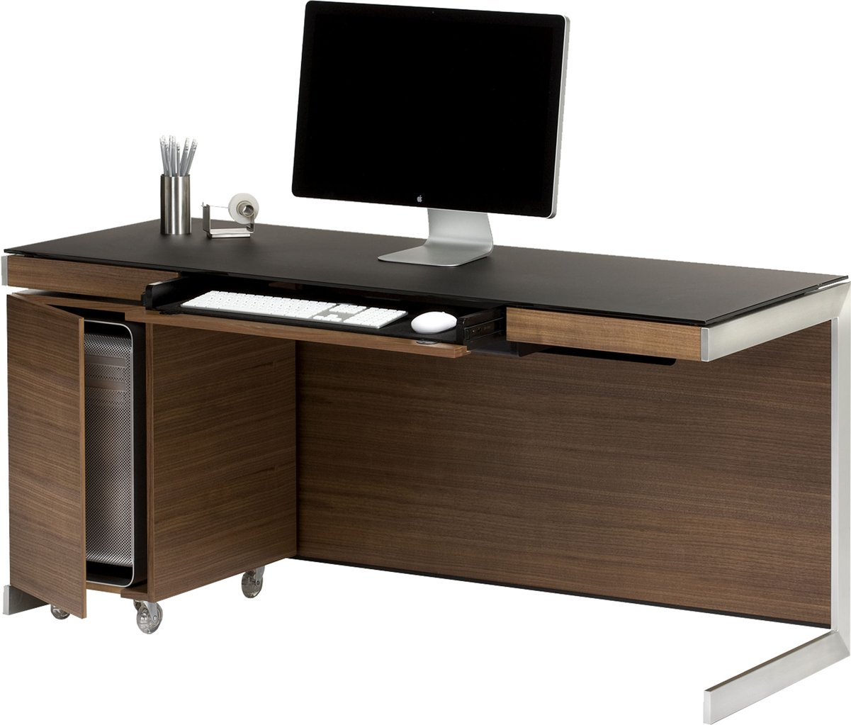 Bdi sequel 6001 walnut computer desk - Walnut office desk ...