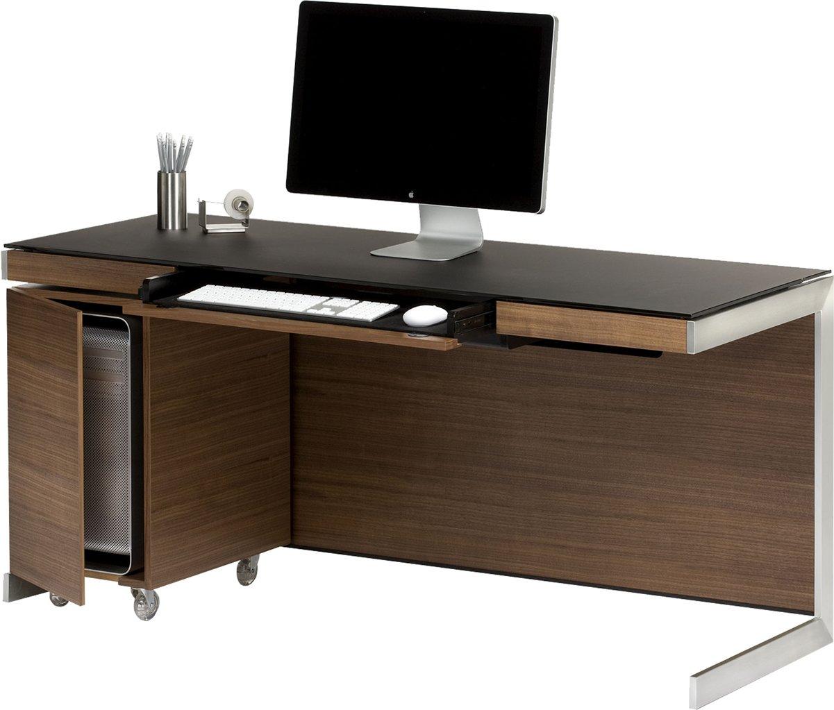 Bdi Sequel 6001 Walnut Computer Desk
