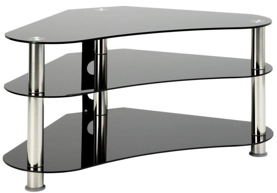 Universal Lcd Plasma 40 Um7 Curved Black Gl Tv Stand Chrome Legs Main