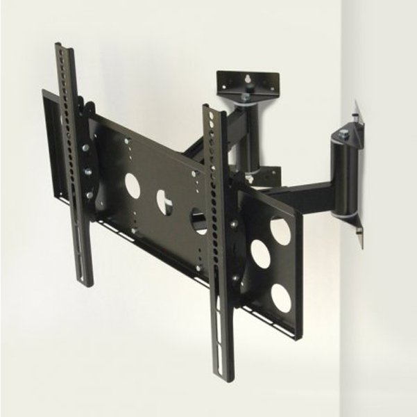 World Mounts Wmcm1b Corner Mounted Wall Bracket For 32