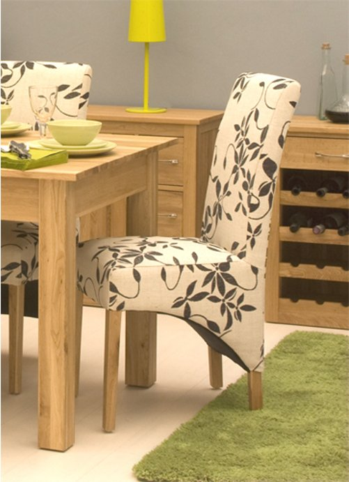 mobel oak upholstered dining chair pack of two main image alternative image