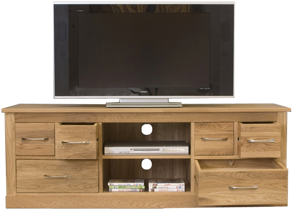 mobel oak widescreen television cabinet. Black Bedroom Furniture Sets. Home Design Ideas