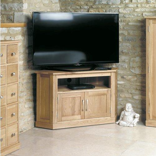 mobel oak corner television cabinet main image