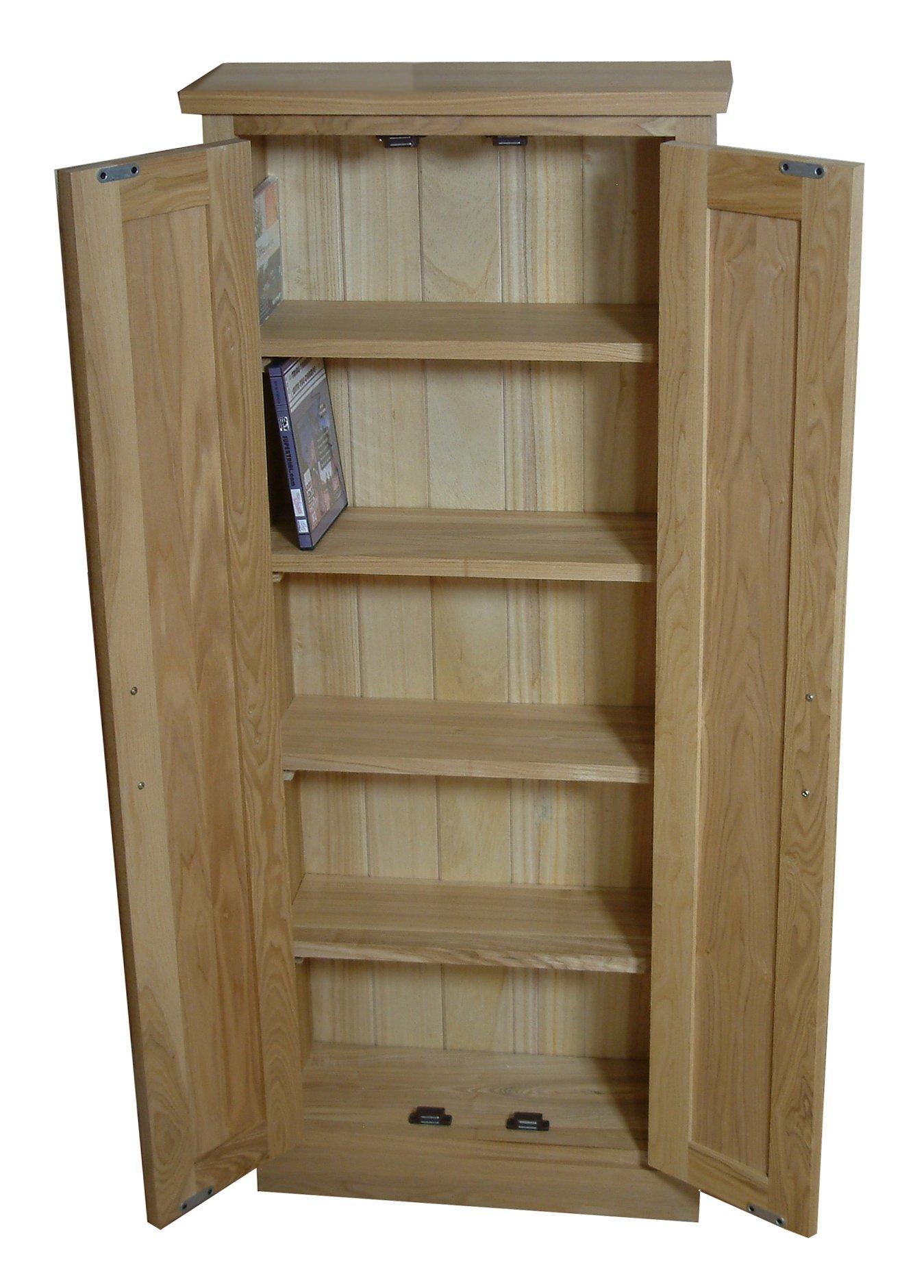 Mobel Oak CDDVD Storage Cupboard